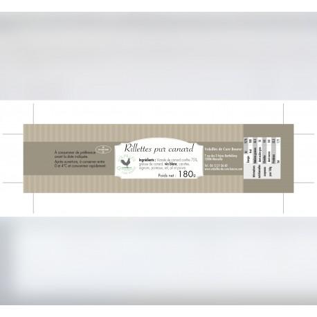 Étiquettes rectangulaires autocollantes adhésives 15,5 x 3 cm
