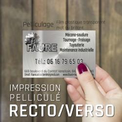250 Cartes de visite pelliculées Recto & Verso