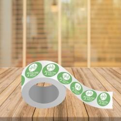 Impression pas cher, Avignon, Vaucluse, Étiquettes ronde adhésive 4x4 cm avec vernies anti-rayure