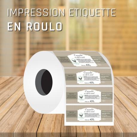 Impression étiquettes adhésives rectangle 15,5x3 cm