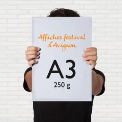 Impression 250 Affiches A3, 250g, festival Avignon, Vaucluse