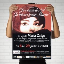 Impression 250 Affiches A2 cartonnéées, perforées, Festival, Avignon