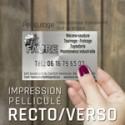 Pelliculé Recto et Verso