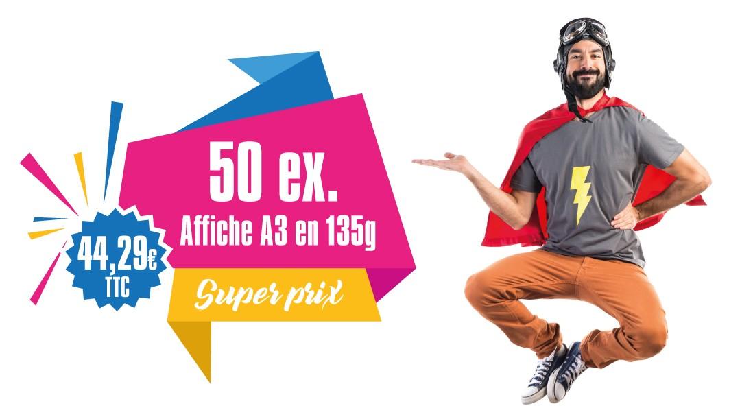 Promotion impression 50 affiches A3, Avignon, Vaucluse - Affiches pas chère Avignon
