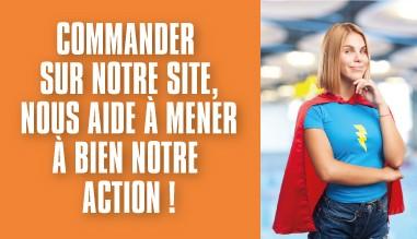 Commander sur notre site nous aide à mener à bien notre action.